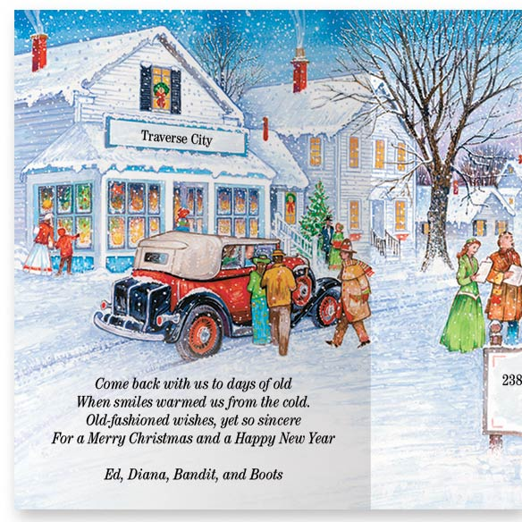 Antique Auto Christmas Card Set/20 - View 2