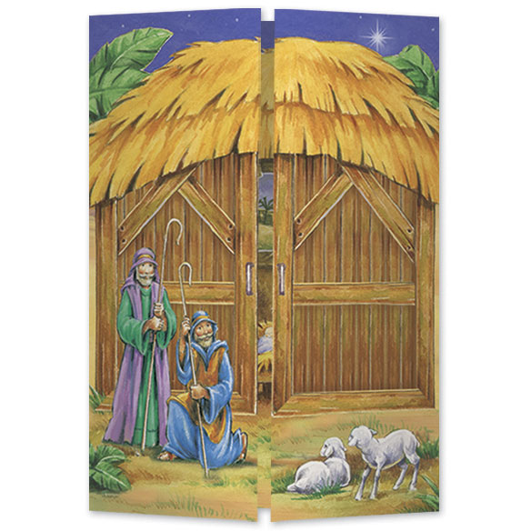 Gatefold Nativity Christmas Card Set/20 - View 1