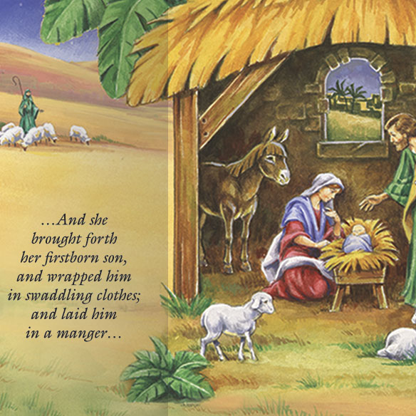 Gatefold Nativity Christmas Card Set/20 - View 2