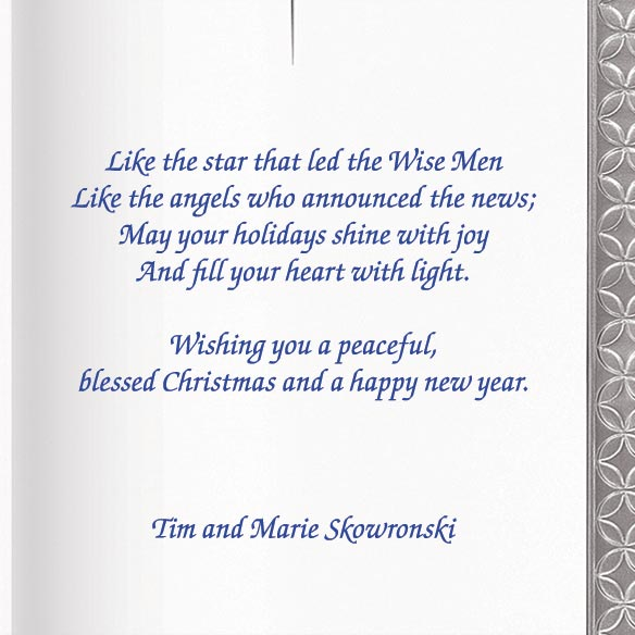 Silver Nativity Christmas Card Set/20 - View 2