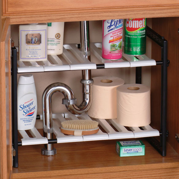 Under Sink Expandable Shelf - View 2