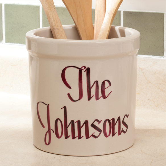 2 Quart Personalized Stoneware Crock - View 1