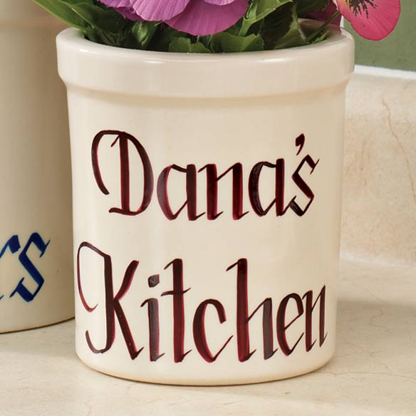 2 Quart Personalized Stoneware Crock - View 2