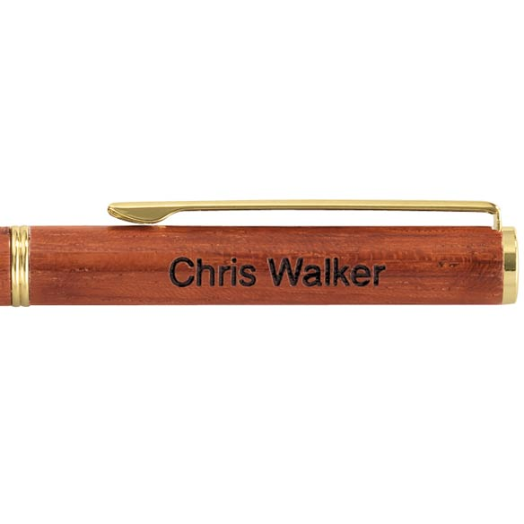 Personalized Rosewood Pen Slim - View 2