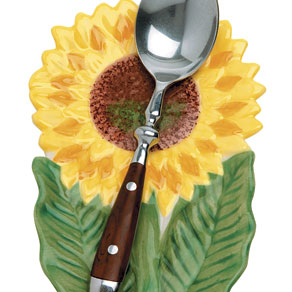 Sunflower Spoon Rest - Flower Spoon Rest - Walter Drake