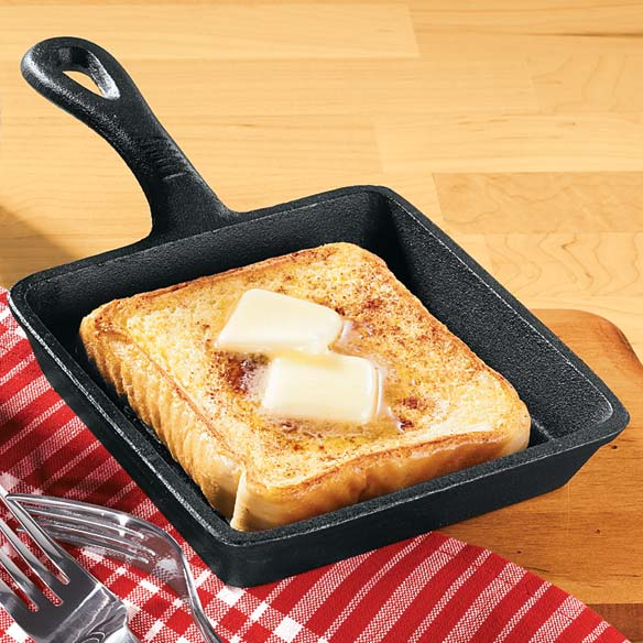 Set of Mini Cast Iron Round and Square Skillet Pans - View 3