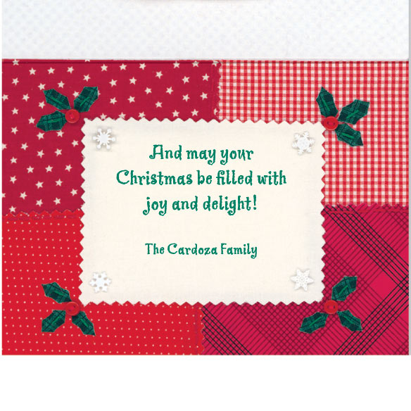 Calico Snowman Christmas Card Set of 20 - View 4