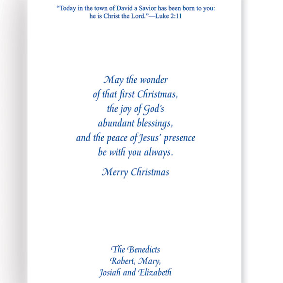 Holy Family Personalized Christmas Cards Set Of 20 - View 3