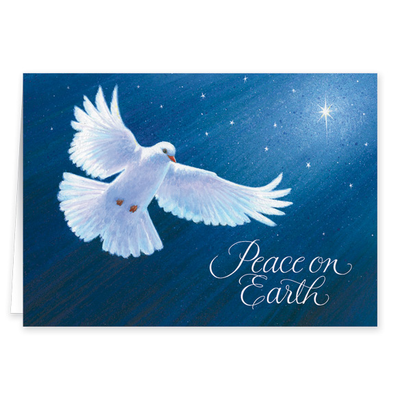 Dove of Peace Religious Verse Christmas Card Set of 20 - View 2