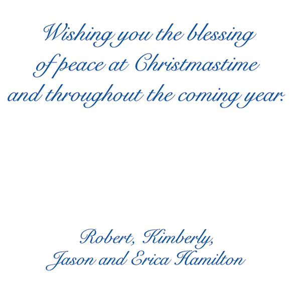 Dove of Peace Religious Verse Christmas Card Set of 20 - View 3
