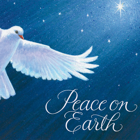 Dove of Peace Religious Verse Christmas Card Set of 20 - View 4
