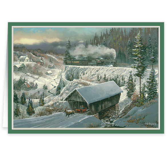 Ted Blaylock Winter Scene Christmas Cards - View 2