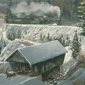 Ted Blaylock Winter Scene Christmas Cards - View 4