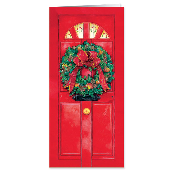 Christmas Door Those I Love Christmas Card - View 1