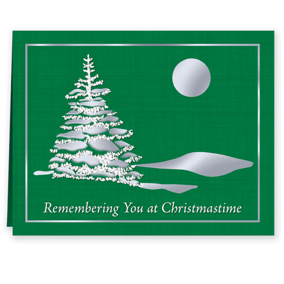Remembering You Personalized Christmas Cards - Set of 20 - View 2