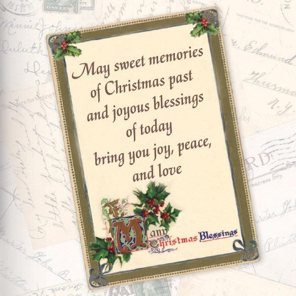 Nostalgic Collage Christmas Card - Set Of 20 - View 2