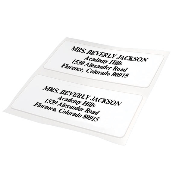 Glossy White Box Labels Set of 200 - View 2
