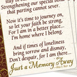 Memorial Wallet Cards - Set Of 25 - View 2