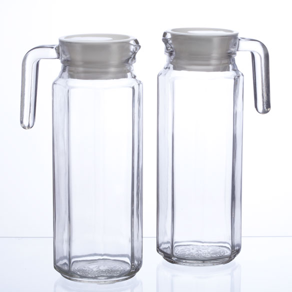 Glass Pitchers With Lid And Spout - Set Of 2 - View 1