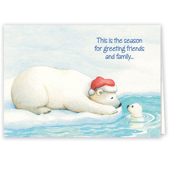 Arctic Friends Christmas Card Set of 20 - View 1
