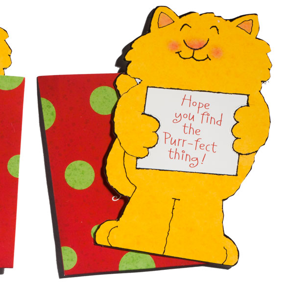 Cat Christmas Gift Card Holder - View 1