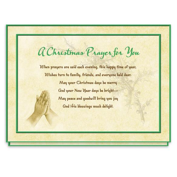 Christmas Prayer Cards - Set Of 20 - View 1