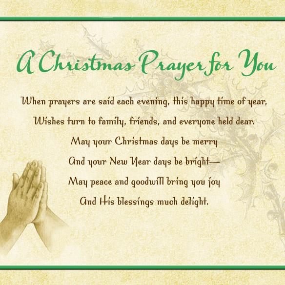 Christmas Prayer Cards - Set Of 20 - View 3