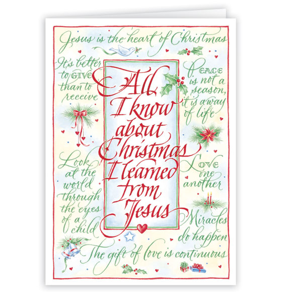 All I Know About Christmas Card Set of 20 - View 2
