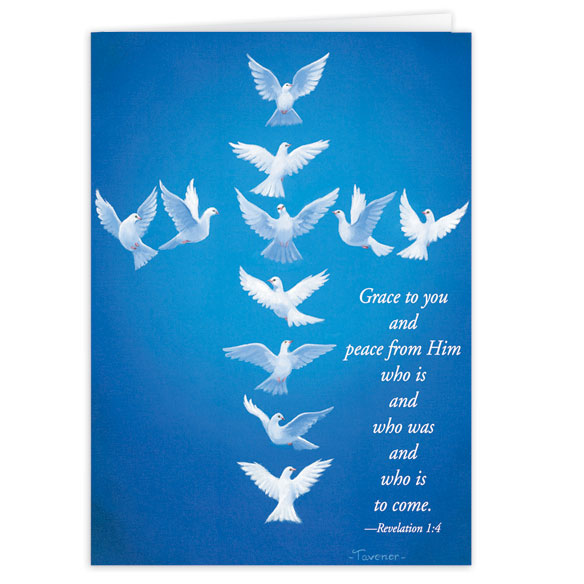 Dove Cross Christmas Card - Set Of 20 - View 1