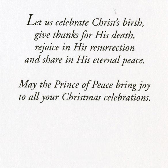 Dove Cross Christmas Card - Set Of 20 - View 2