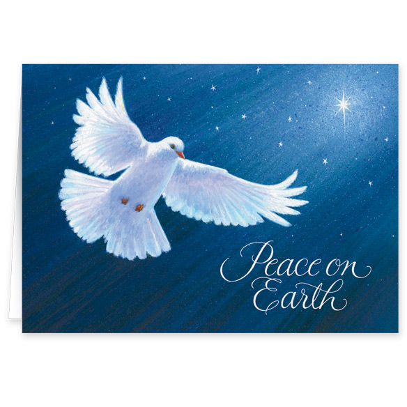 Dove of Peace Christmas Verse Christmas Card Set of 20 - View 2