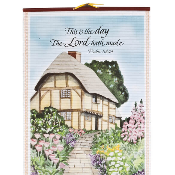 Bless This House Wall Scroll Calendar - View 3
