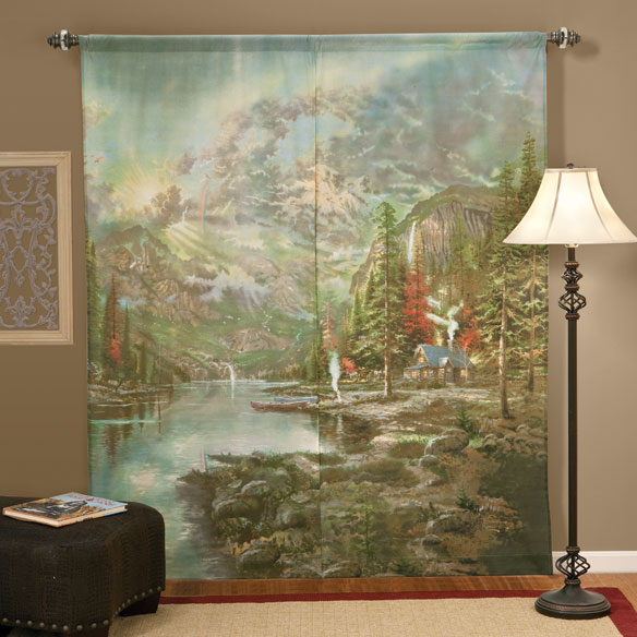 Thomas Kinkade Window Art Curtains - View 2