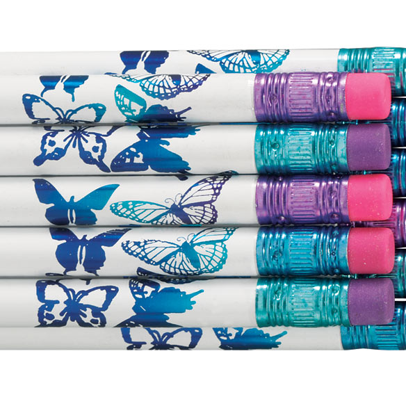 Personalized Butterfly Pencils - Set Of 12 - View 2
