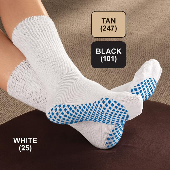 Diabetic Slipper Socks With Gripper Soles - View 2