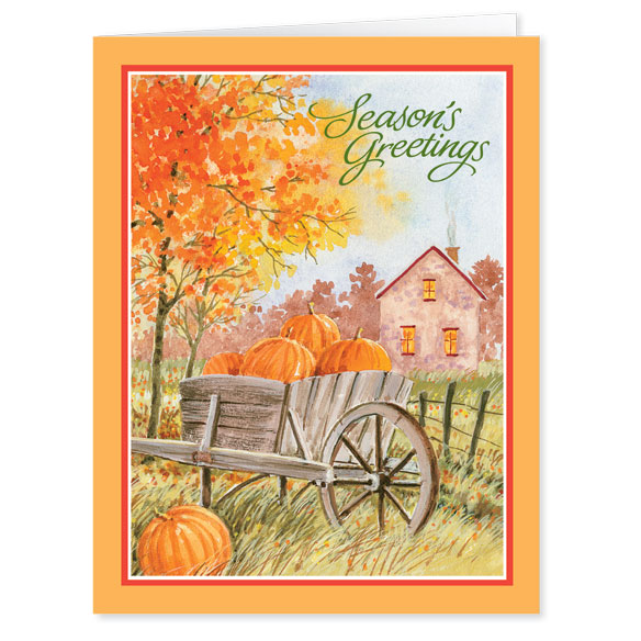 Autumn Greetings Card Plain - View 1