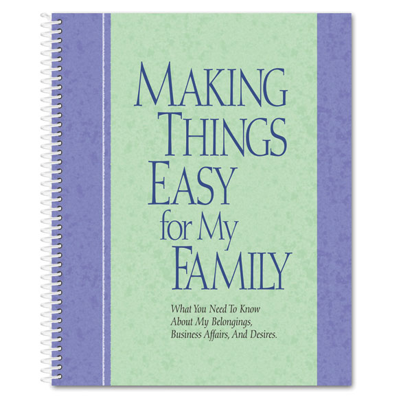Family Organizer Book - View 1