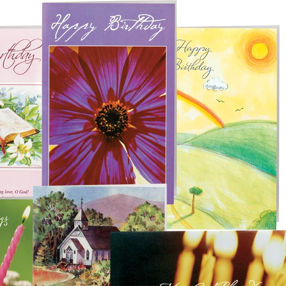 Christian Birthday Cards - Set Of 24 - View 2