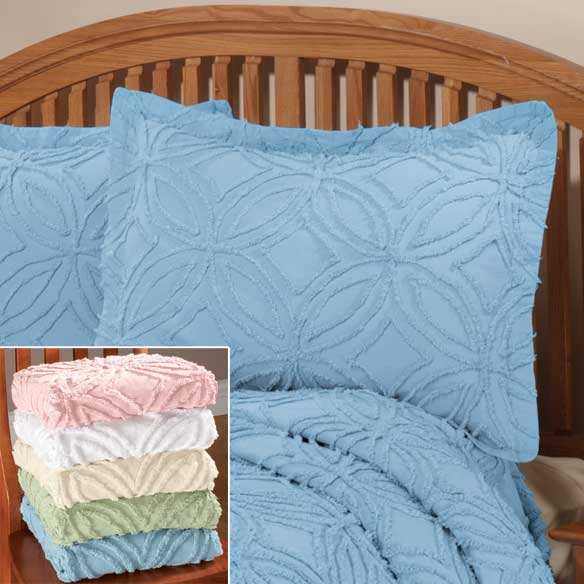 The Eliza Chenille Bedspread Sham by East Wing Comforts - View 2