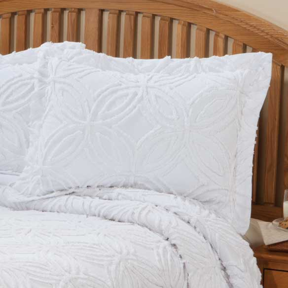 The Eliza Chenille Bedspread Sham by East Wing Comforts - View 4