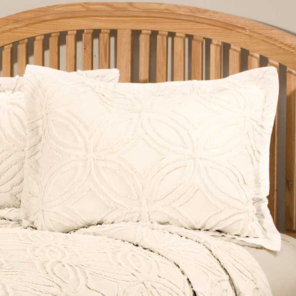 The Eliza Chenille Bedspread Sham by East Wing Comforts - View 5