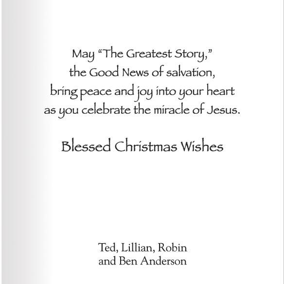 Greatest Story Christmas Card Set of 20 - View 3