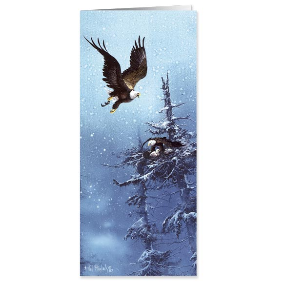 Blaylock Eagle Christmas Card - Set Of 20 - View 1