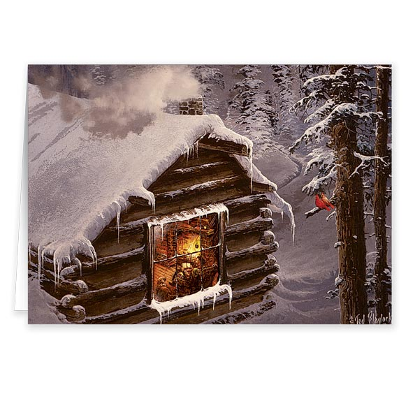 Blaylock Snowy Cabin Christmas Card - Set Of 20 - View 2
