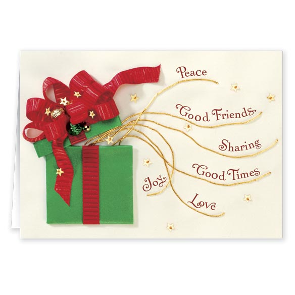 Gift Of Friendship Christmas Card - Set Of 20 - View 1