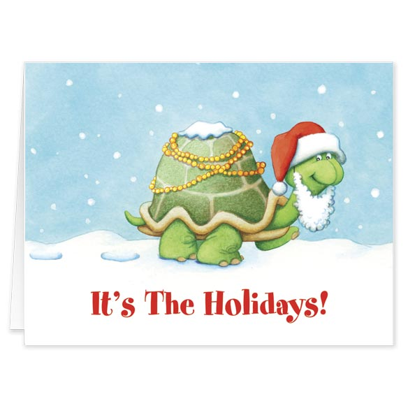 Holiday Turtle Christmas Card - Set Of 20 - View 1