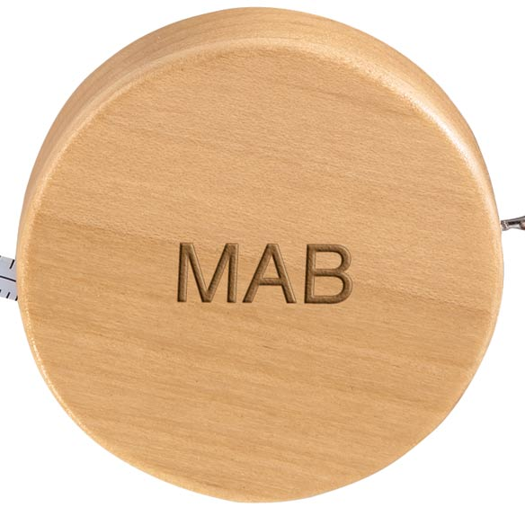 Personalized Maple Measuring Tape with Key Chain