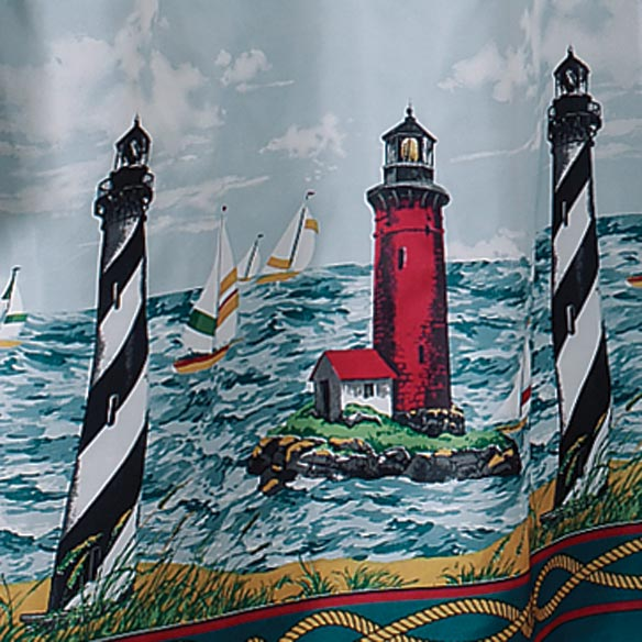 Lighthouse Shower Curtain - Nautical Shower Curtain - Walter Drake