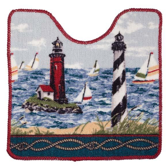 Lighthouse Bath Mat - 2 Piece Set - View 3