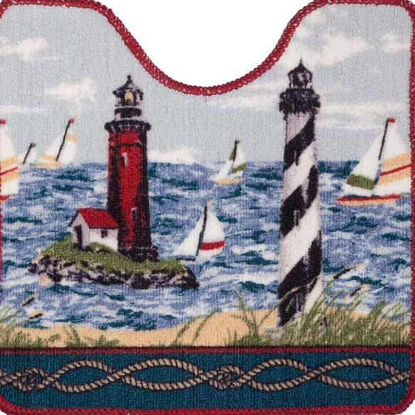 Lighthouse Bath Mat - 2 Piece Set - View 4